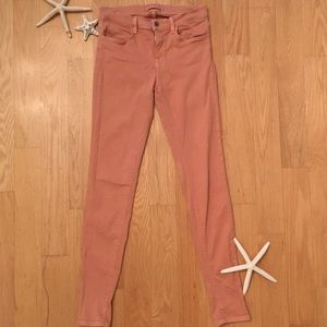 JBRAND Pink Mid Rise Skinny Jeans Size 27